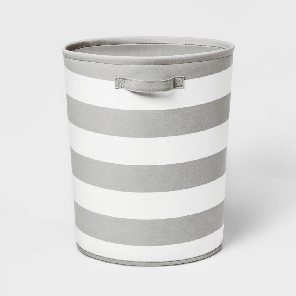 Floor Canvas Stripe Bin Gray Pillowfort 8482