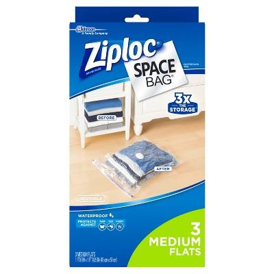 Ziploc Space Bag Flat Medium 3ct