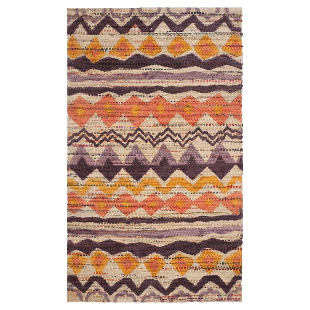 Cedar Brook Rug - Orange- (5'x8') - Safavieh, Orange/Beige
