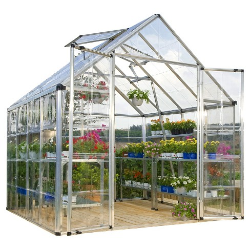 8'  x 8' x 7' Snap And Grow Series Hobby Greenhouse - Silver - Palram - image 1 of 8