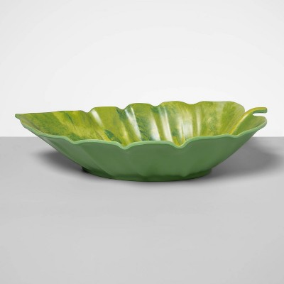 66oz Melamine Leaf Serving Bowl Green - Opalhouse™