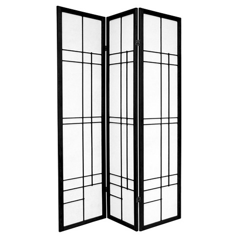 6 ft. Tall Eudes Shoji Screen - Black (3 Panels) - image 1 of 1