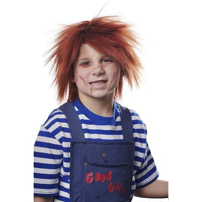 Costume Culture by Franco LLC Evil Doll Child Costume Wig | Red