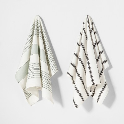 2pk Striped Kitchen Towel - Hearth & Hand™ with Magnolia