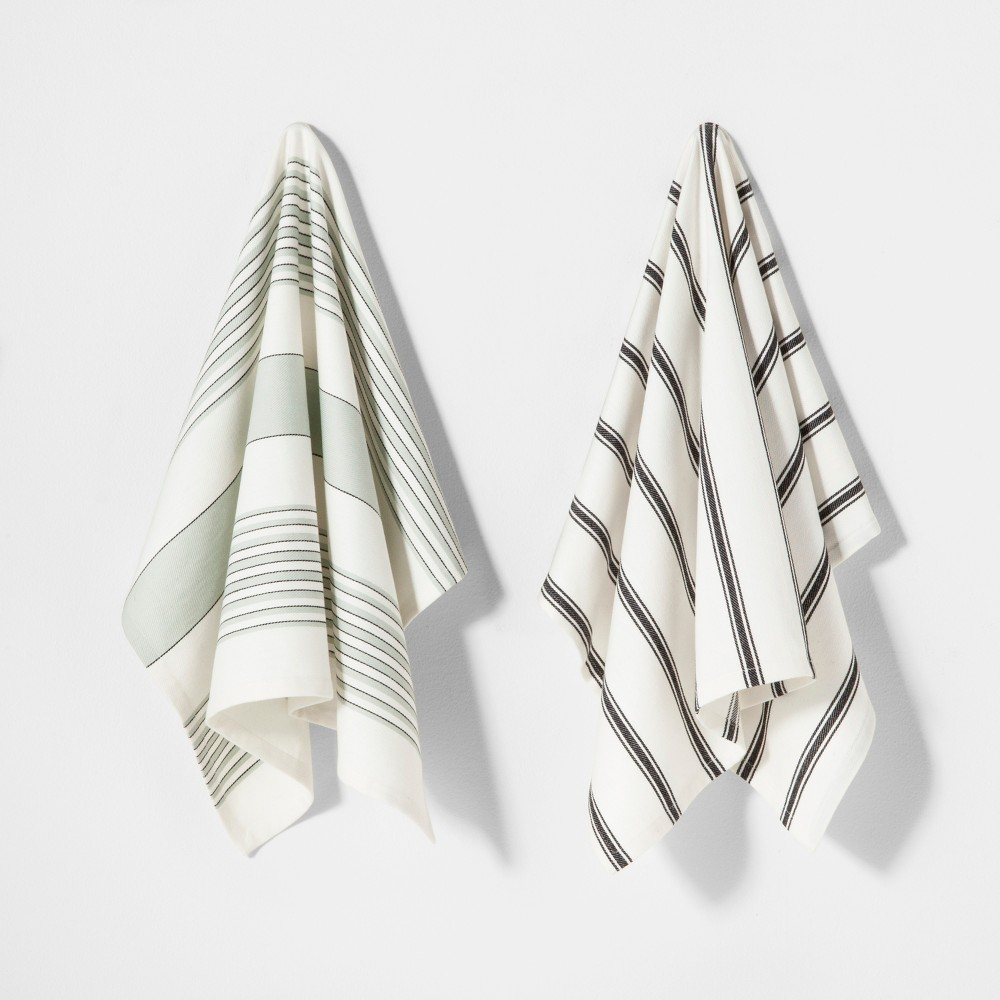 2pk Striped Kitchen Towel - Hearth & Hand with Magnolia, Off White