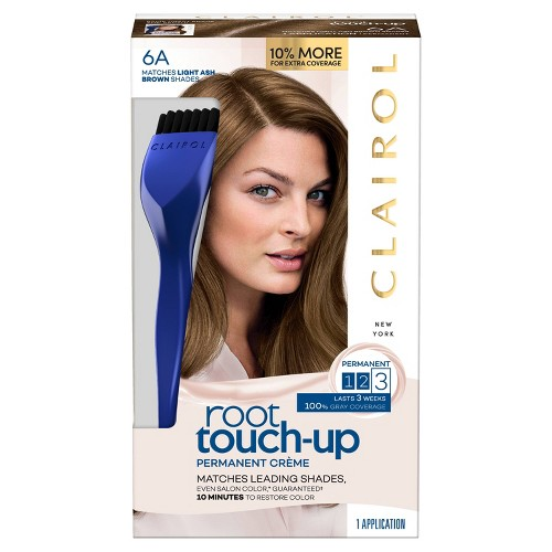 Clairol Root Touch-Up Permanent Hair Color - 6A Light Ash Brown - 1 Kit, 6A Light Grey Brown