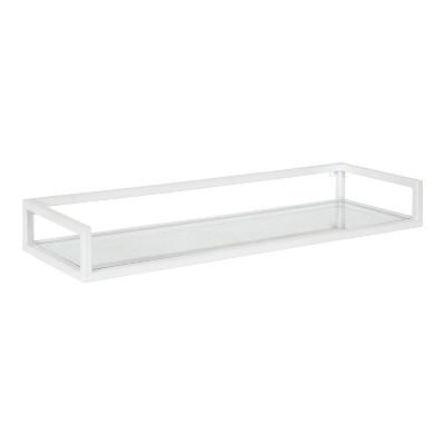 "24"" x 8"" x 3"" Blex Metal and Glass Wall Shelf - Kate & Laurel All Things Decor"