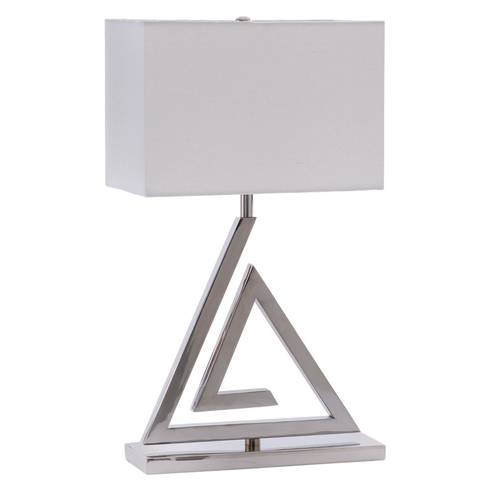 """Image of """"Go Home Stevens Table Lamp - 22""""""""H - Shiny Silver"""""""
