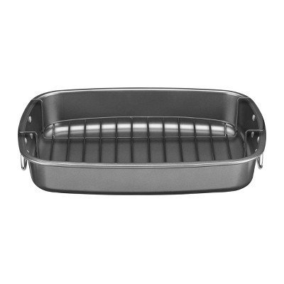 "Cuisinart 17"" X 12"" Non-Stick Roasting Pan with Non-Stick Flat Rack - CSR-1712R"