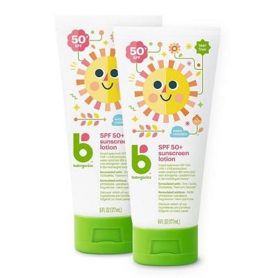 Babyganics Sunscreen Lotion - SPF 50 - 2ct/6 fl oz
