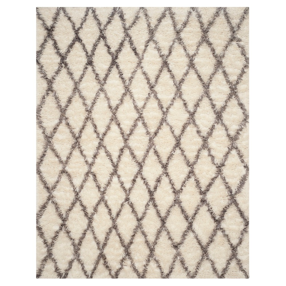 Ivory/Gray Abstract Loomed Area Rug - (8'X10') - Safavieh