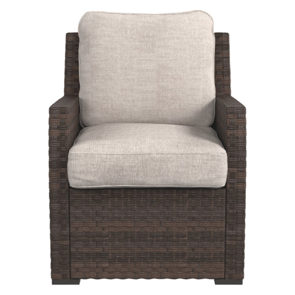 Salceda Lounge Chair with Cushion - Beige/Brown - Outdoor by Ashley