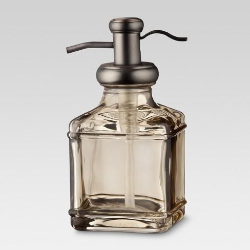 Short Antique Glass Soap Pump Gray Threshold Target