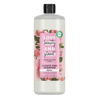 Love Beauty & Planet Murumuru Butter & Rose Blooming Color Sulfate Free Shampoo Refill - 32.3 fl oz