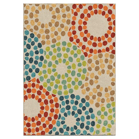 Orian Rugs Polka Circles Promise Indoor Outdoor Area Rug