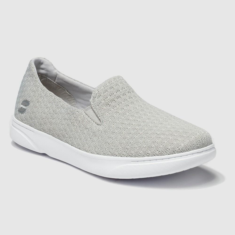 Women's S Sport By Skechers Rufina Slip on Sneakers - Gray 9, Gray White