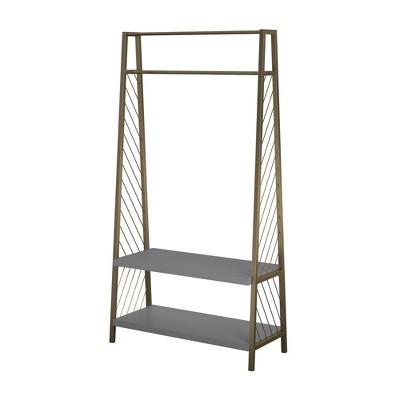 Brielle Entryway Storage Graphite Gray - Cosmoliving By Cosmopolitan