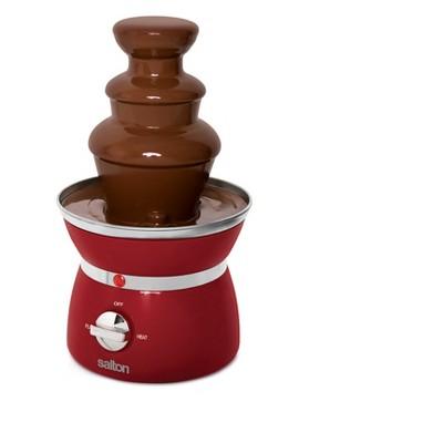 Salton Mini 3-Tier Chocolate Fondue Fountain - Black