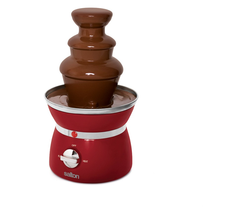 Image of Salton Mini 3-Tier Chocolate Fondue Fountain - Black