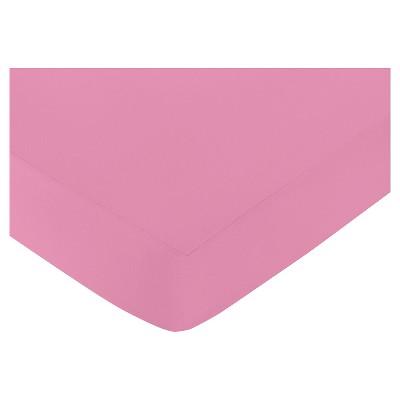 Sweet Jojo Designs Paris Fitted Crib Sheet - Dark Pink