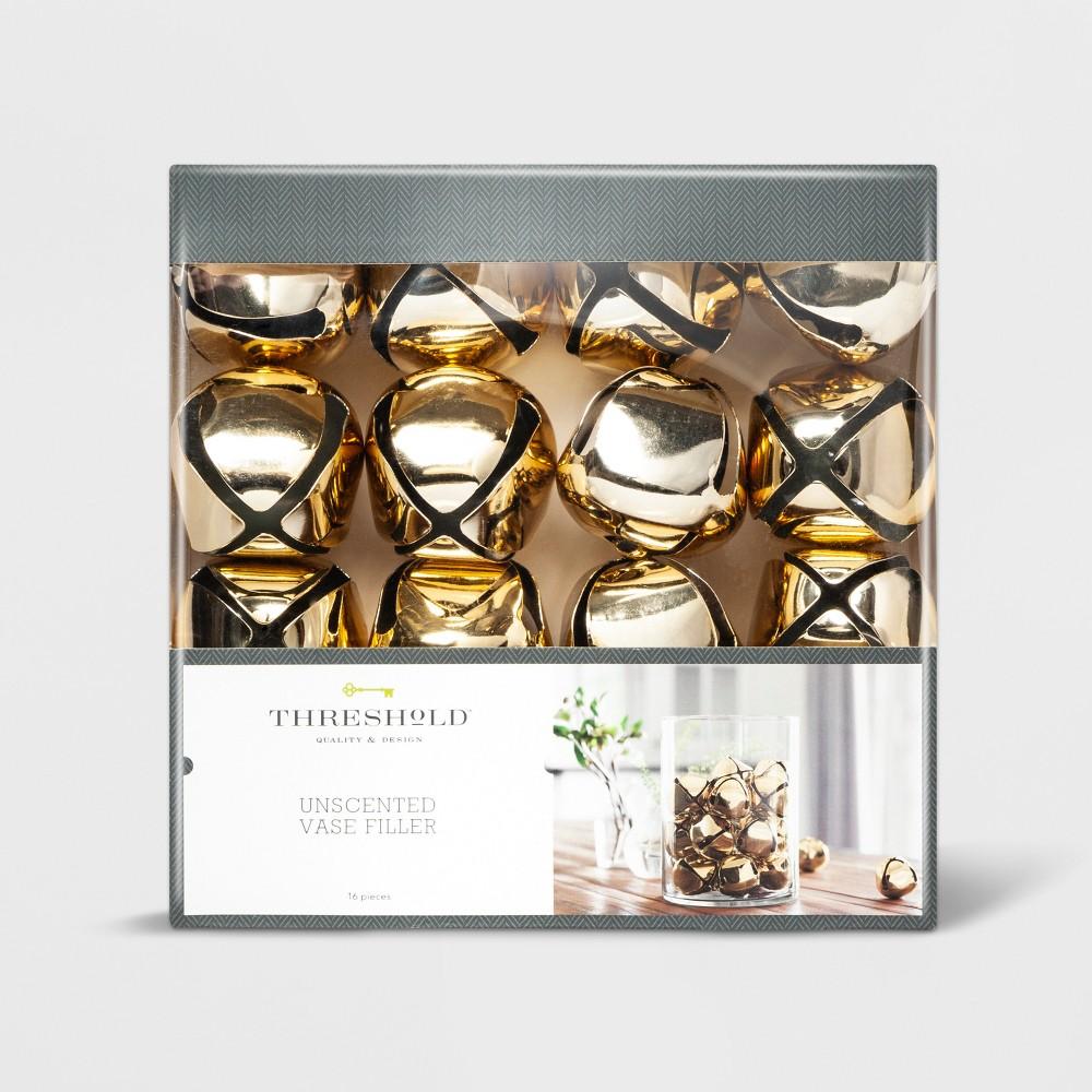 """Image of """"2"""""""" 16pc Jingle Bells Vase Filler Gold - Threshold"""""""