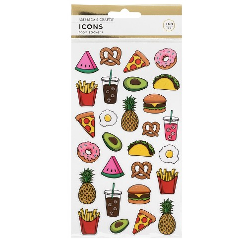 168pc Food Stickers - American Crafts - image 1 of 3