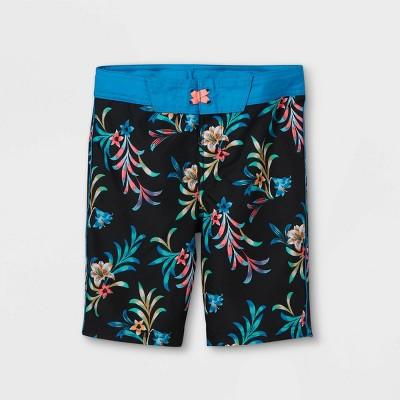 Boys' Floral Leaf Print Swim Trunks - art class™ Blue