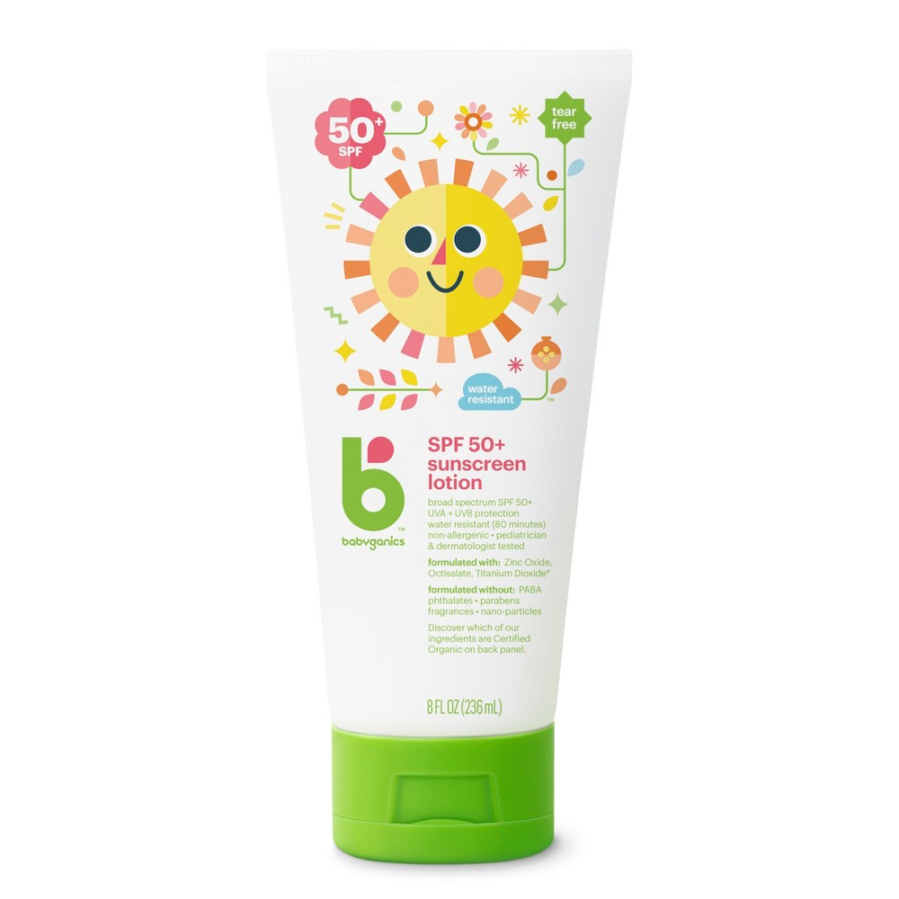 Image of Babyganics Sunscreen Lotion Broad Spectrum Protection - SPF 50 - 8 fl oz