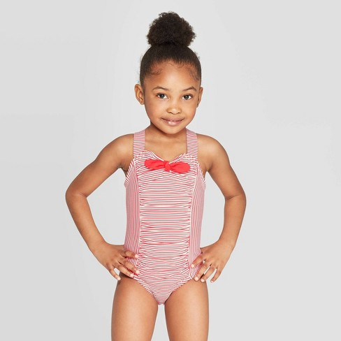 f6ece2e770 Toddler Girls' One Piece Swimsuit - Cat & Jack™ Red : Target