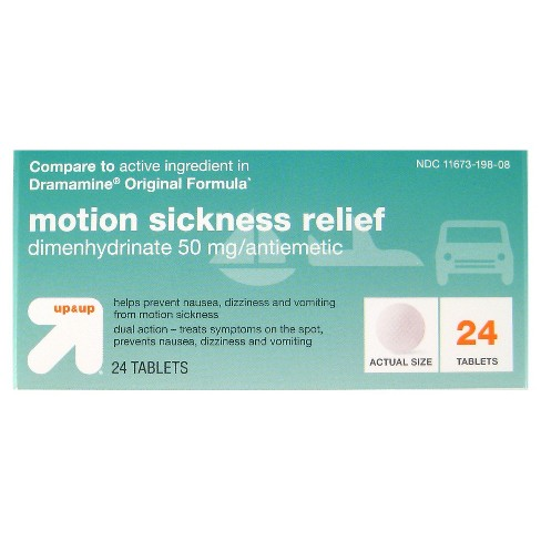 Motion Sickness Tablets 24ct - Up&Up™ (Compare to active ingredient in Dramamine Original Formula) - image 1 of 1