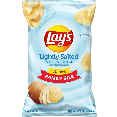 Lay's Lightly Salted Potato Chips - 9.5oz - image 1 of 3