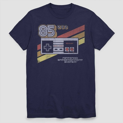 Men's Nintendo Classic NES 1985 Retro Short Sleeve Graphic T-Shirt - Navy - image 1 of 2