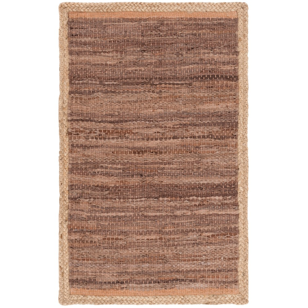 2'2X8' Woven Solid Runner Rug Brown - Safavieh, Brown/Natural