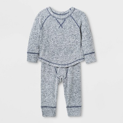 Baby Boys' Hatchi Top & Bottom Set - Cat & Jack™ Navy 0-3M