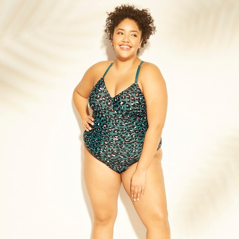 Women's Plus Size Laceup Back One Piece Swimsuit - Kona Sol™ - image 1 of 2