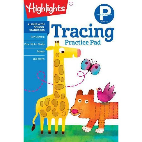 Tracing, Preschool -  (Highlights Learn on the Go Practice Pads) (Paperback) - image 1 of 1