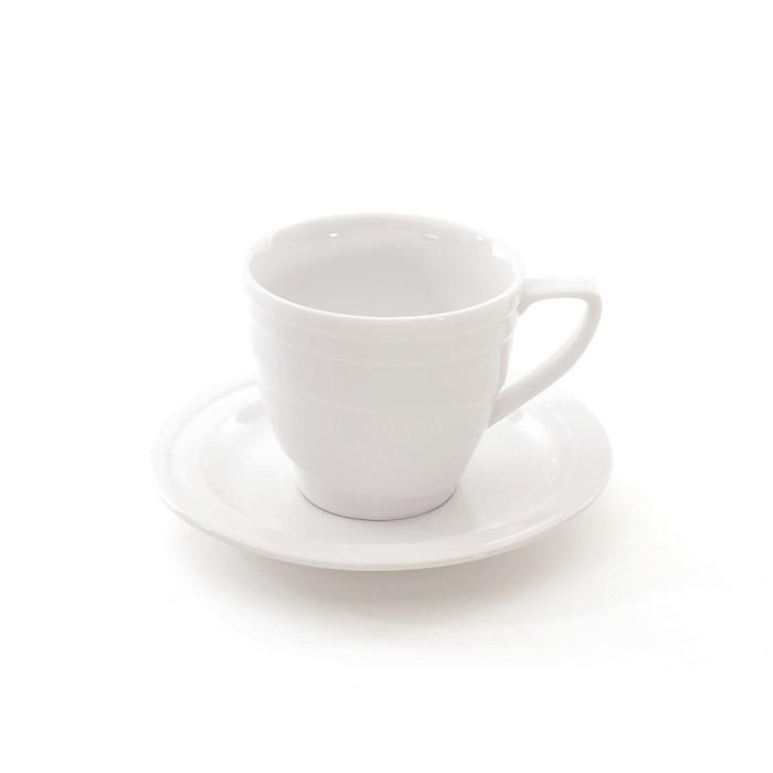 BergHOFF Eclipse 8.6oz Porcelain Teacup & Saucer : Target