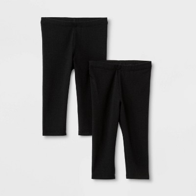 Toddler Girls' 2pk Capri Leggings - Cat & Jack™ Black
