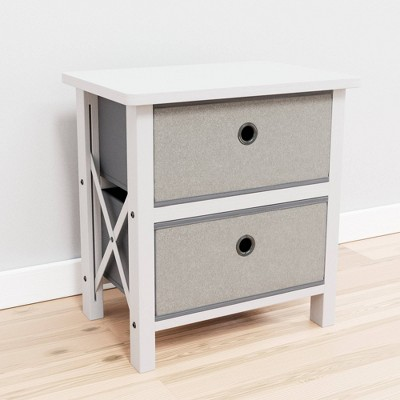 Two Drawer Fabric Storage Chest - Brookside Home