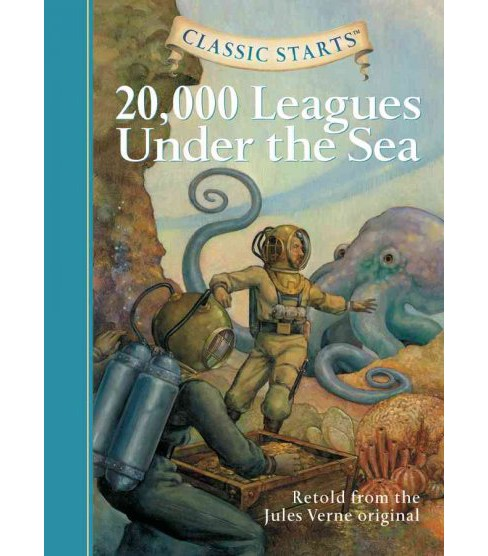 20,000 Leagues Under the Sea -  (Classic Starts) by Jules Verne & Lisa R. Church (Hardcover) - image 1 of 1