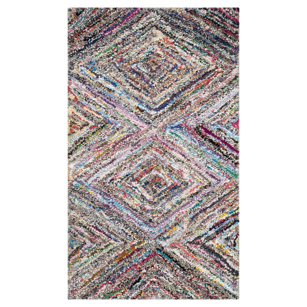 Multi-Colored Abstract Tufted Accent Rug - (2'3x5') - Safavieh, Multicolored