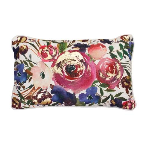 Arden Floral Lumbar Throw Pillow - Dcor Therapy - image 1 of 4