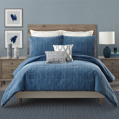 King 3pc Rhapsody Comforter Set Blue - Ayesha Curry