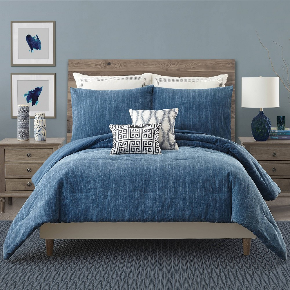 Image of King 3pc Rhapsody Comforter Set Blue - Ayesha Curry