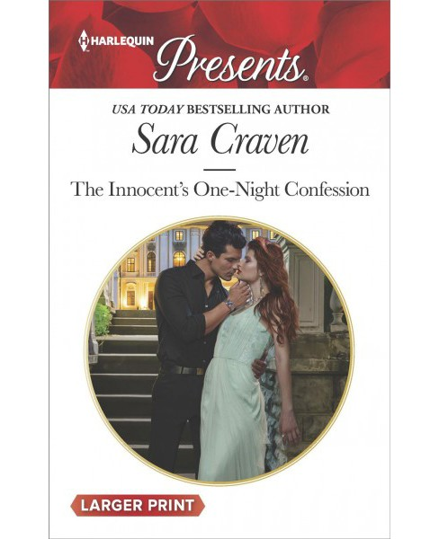 Innocent's One-Night Confession -  Large Print by Sara Craven (Paperback) - image 1 of 1
