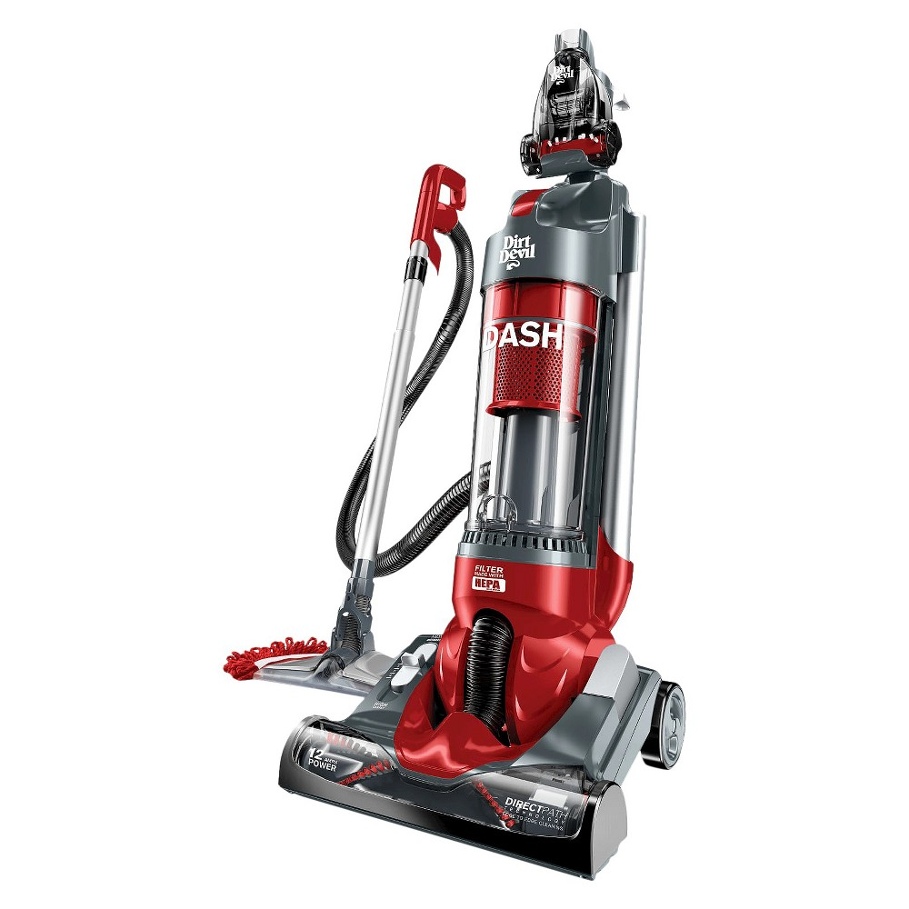 Image of Dirt Devil Dash Dual Cyclonic Bagless Upright Vacuum with Vac+Dust Floor Too l- UD70250B, Multi-Colored