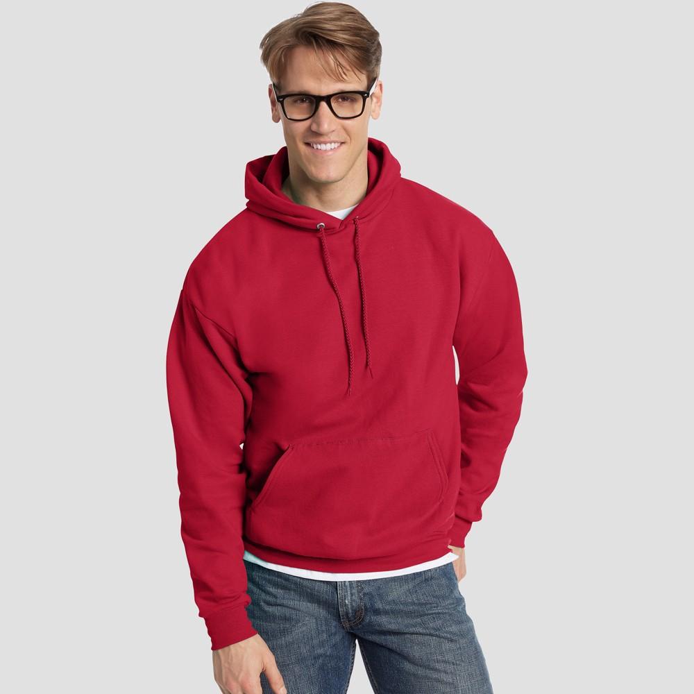 Hanes Men's Big & Tall EcoSmart Fleece Pullover Hooded Sweatshirt - Deep Red 3XL