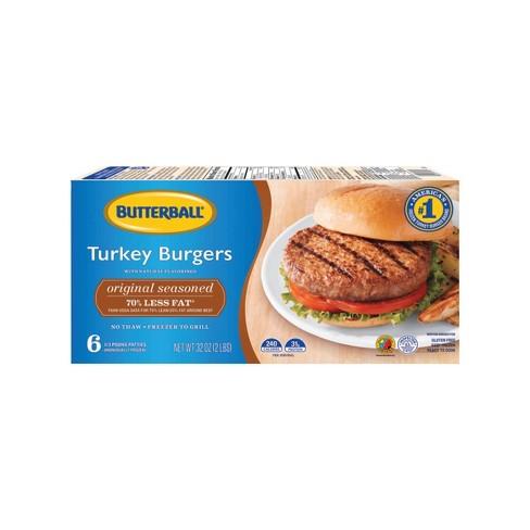 Butterball Seasoned Frozen Turkey Burger - 2lbs - image 1 of 3