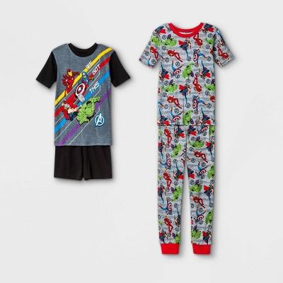 Boys' Marvel Avengers 'We Got This' 4pc Pajama Set - Black/Gray