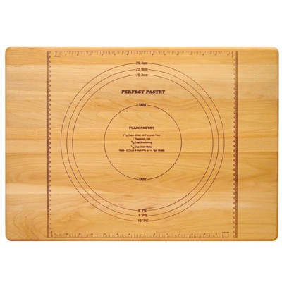 Wood Reversible Pastry Cutting Board in Birch Brown-Pemberly Row